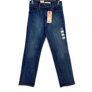 Levi's 724 High-Rise Straight Cropped Jeans